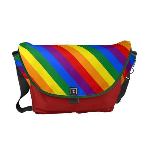 LGBT flag Messenger Bag Courier Bag