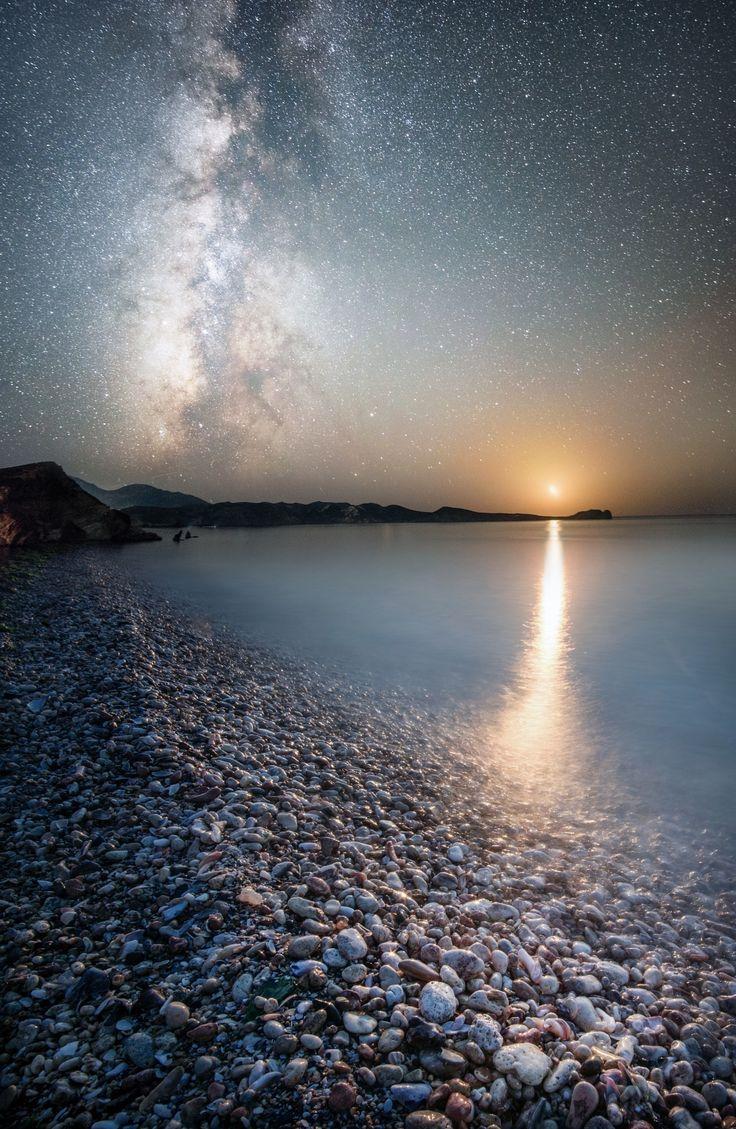 Reflecting Infinity - Moonrise near Vama Veche, Romania