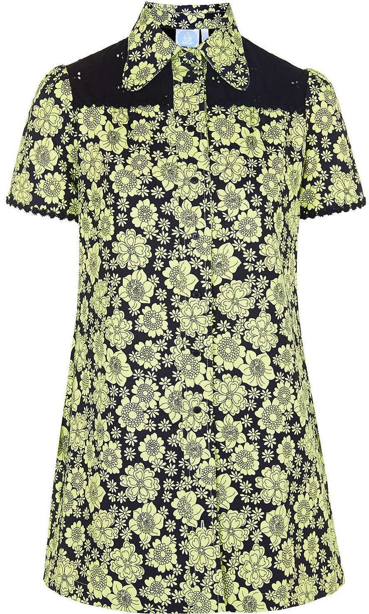 Womens lime shirt from Topshop - £45 at ClothingByColour.com