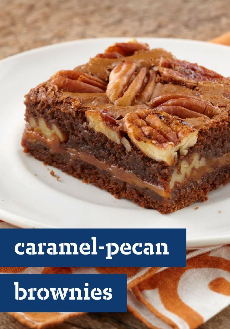 Caramel-Pecan Brownies – Gooey chocolate, melty caramel, crunchy ...