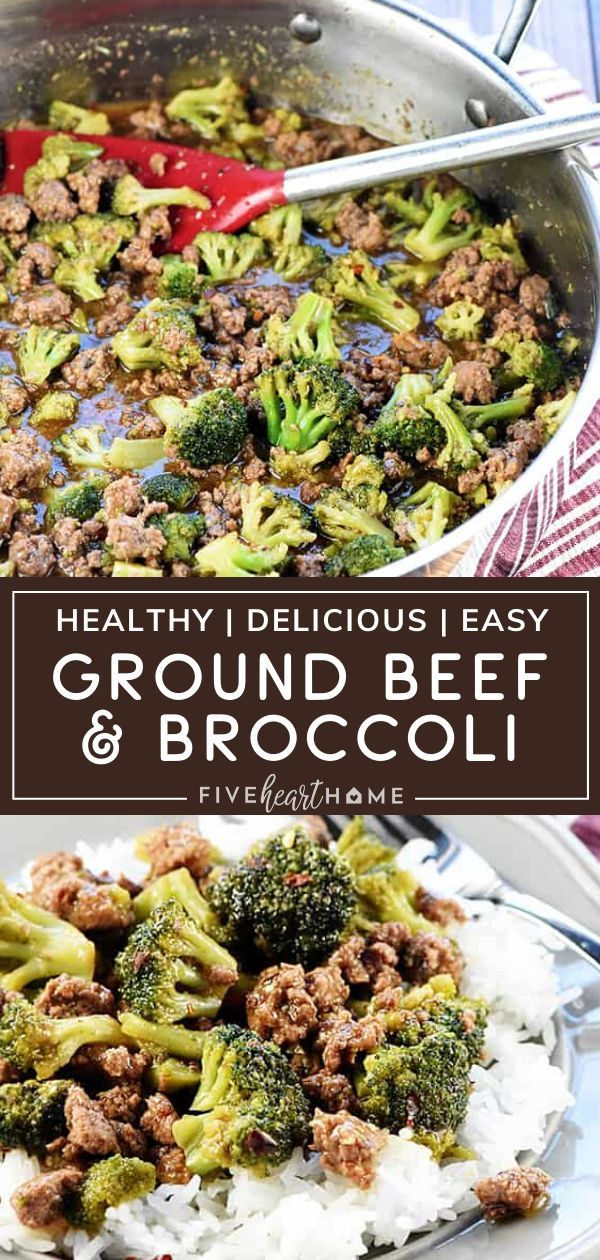 Ground Beef Broccoli In 2020 Ground Beef And Broccoli Ground Beef Recipes Easy Dinner With Ground Beef