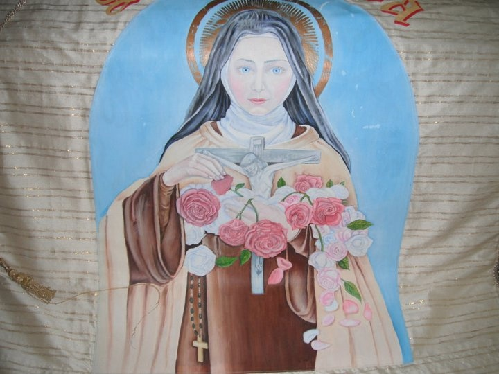 I was requested to undertake this painting of St. Therese by the then parish priest of the church of St Theresa.