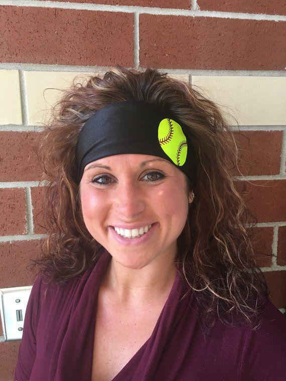 Softball Headband StayBand by FitnesswithFlair on Etsy