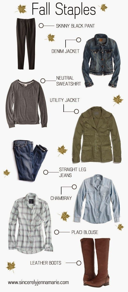 I like all of these - fall wardrobe essentials