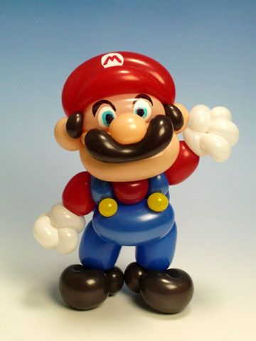 "Balloon Art ""Mario"": Mario Party, Balloon Art, Balloon Animals, Shapes Balloons, Mario Balloon, Mario Bros, Balloon Sculpture, Globos Balloons"