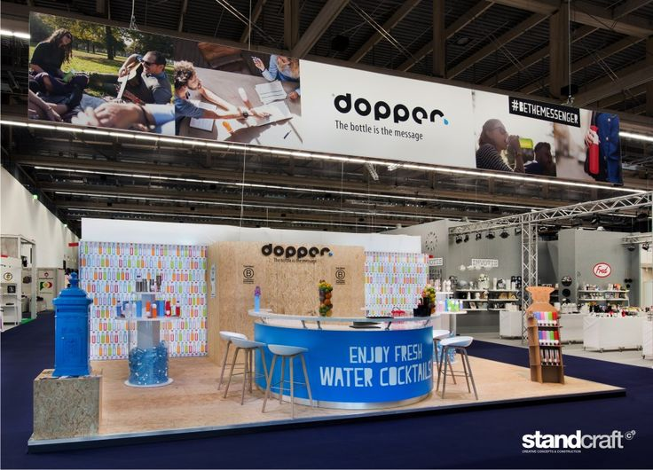Standconstruction for Dopper at the Ambiente  2015 in Frankfurt. Made by Standcraft!