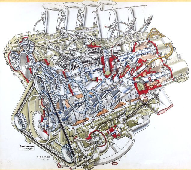 28 sällsynta cutaway illustrationer av klassiska bilar