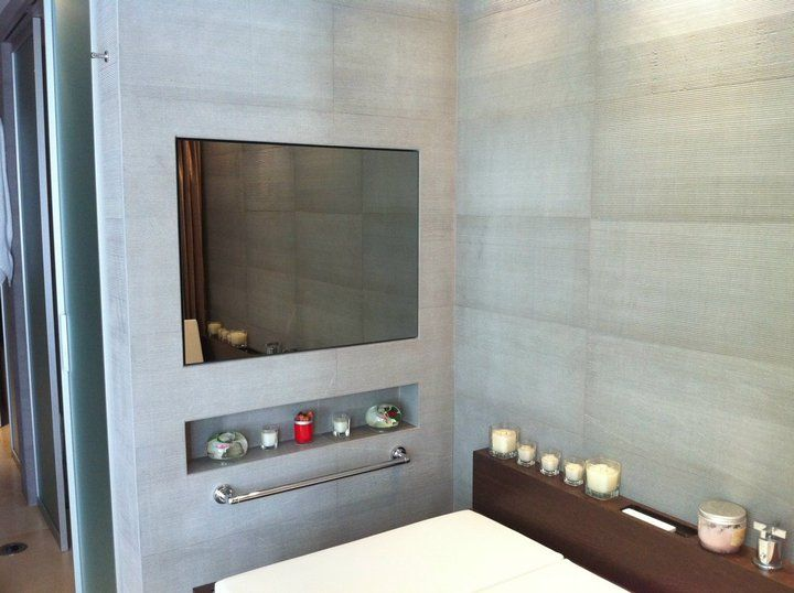 how to frame a bathroom mirror with mosaic tiles 12 best high tech bathrooms images on 26491