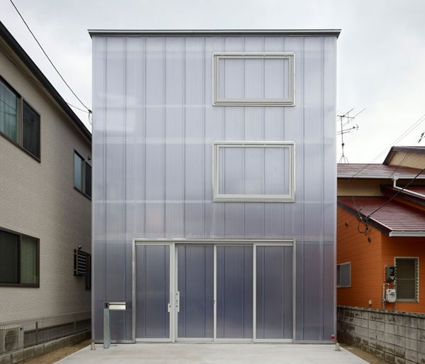 Japanese Light Box House. Flipping out over this house on many levels. Translucent plastic walls offer diffused light in the day and it glows at night!