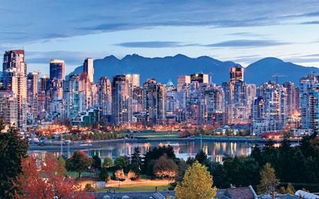 Vancouver- one of the prettiest Canadian cities.