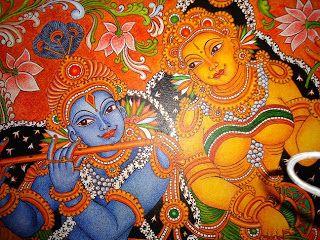 ദേവകല   ----                                                   mural paintings: Mural painting -krishna&radha