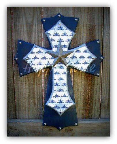 362 best crosses images on pinterest wood crosses for Dallas cowboys arts and crafts