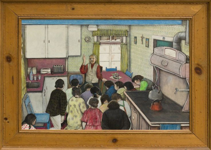 'A Fathers Blessing' by William Kurelek's