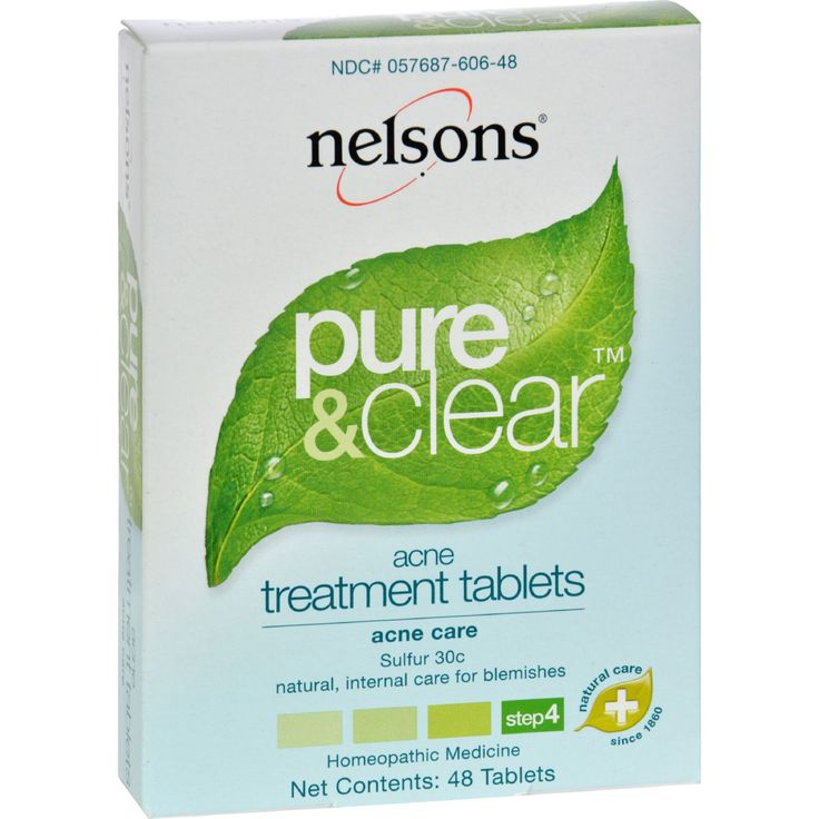 Nelsons Pure and Clear Acne Treatment Tablets - 48 Tablets - Nelsons Pure and Clear Acne Treatment Tablets Description:    Nelsons Pure and Clear Acne Treatment Tablets  Natural internal care for blemishes  Homeopathic Medicine  48 Tablets The Nelsons Pure and Clear 4 step system works in synergy to create and maintain clear skin naturally and homeopathically. The Acne Treatment Tablets work in conjunction with the Acne Treatment Gel to provide maximum homeopathic relief of acne pimples and…