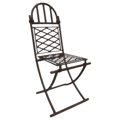 Four Rare French Wrought Iron Chairs Attributed to Raymond Subes on DECASO.com