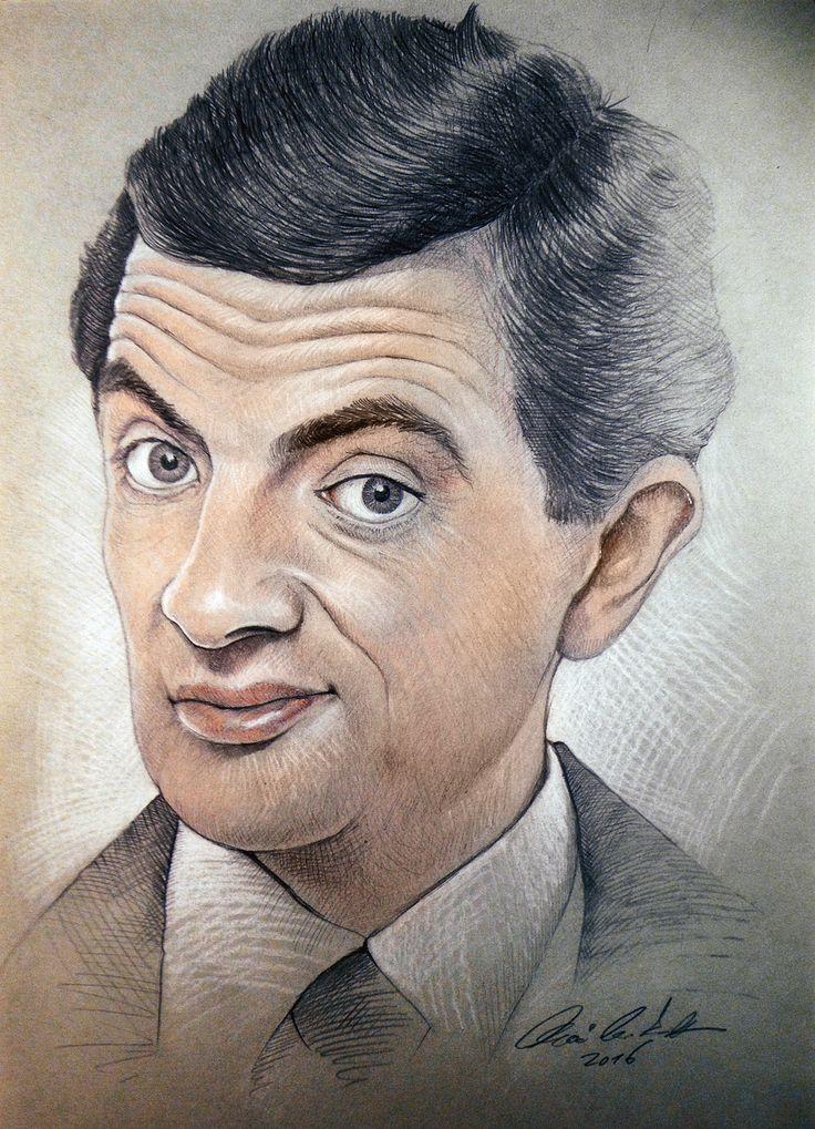 Mr. Bean portrait - colored pencil drawing