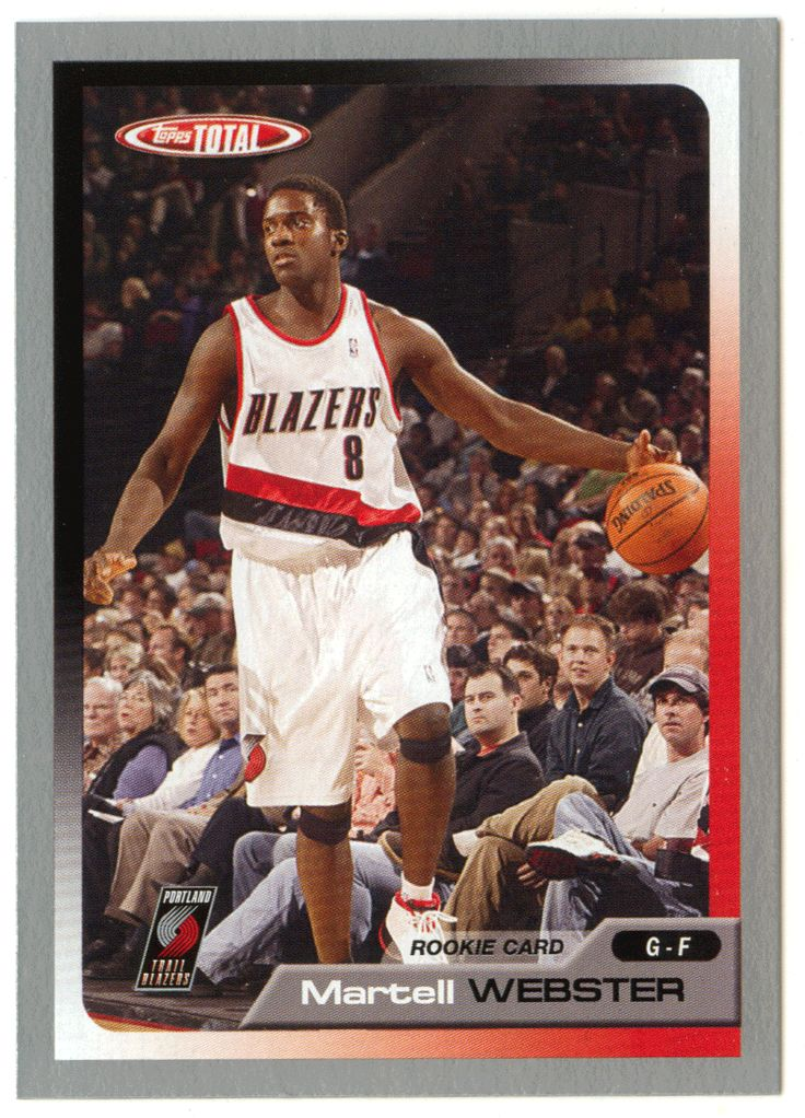 Martell Webster # 329 - 2005-06 Topps Total Basketball - Silver