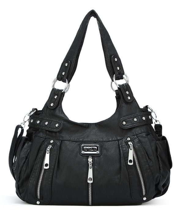 Zippers Shoulder Bag, comes in Black, Ash, Teal, Coffee, Light Brown, Bright Brown, Purple/Red www.outlet77.com