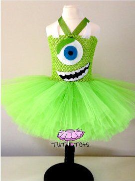 Eva's Monsters Inc. halloween costume I am making :o)  SUPER easy! Photo and idea is from Etsy, TuTu Tots