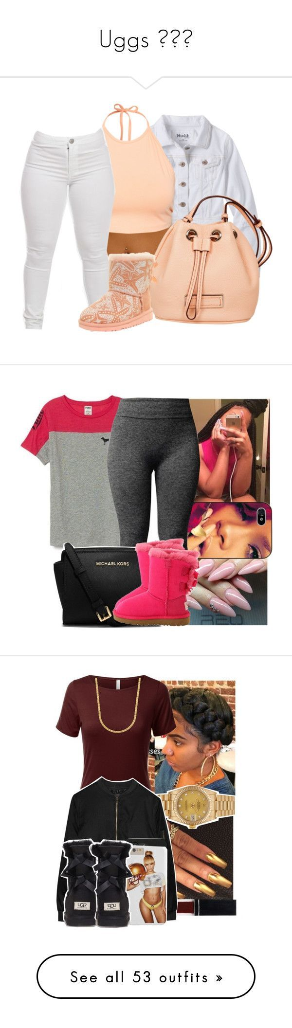 """Uggs 👸👌❣"" by prinxcess-adri ❤ liked on Polyvore featuring Mudd, NLY Trend, Marc by Marc Jacobs, UGG Australia, Victoria's Secret, MICHAEL Michael Kors, Witchery, Rolex, Alygne and H&M"