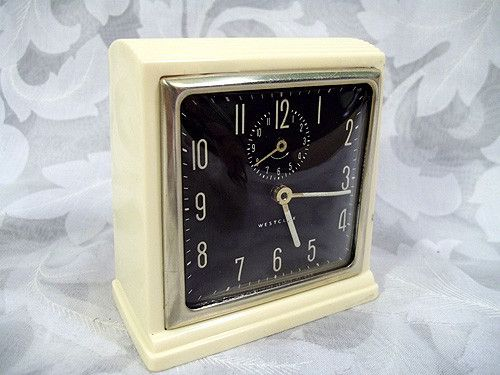 Sold Vintage Westclox Square Alarm Clock Made In Usa