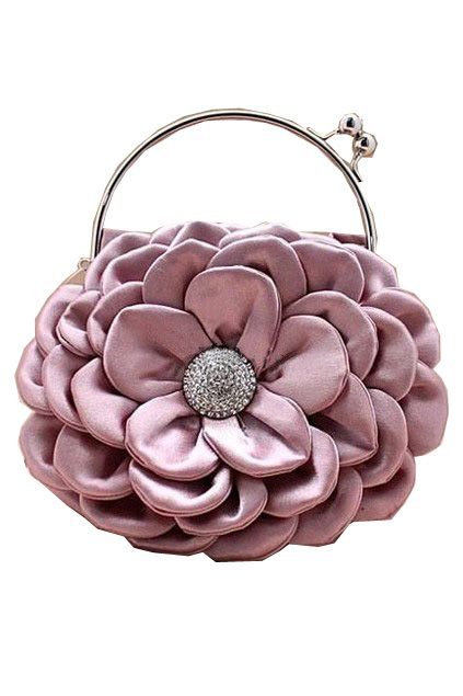 Flower Pattern Handbag with Exqusite Metal Twist Lock