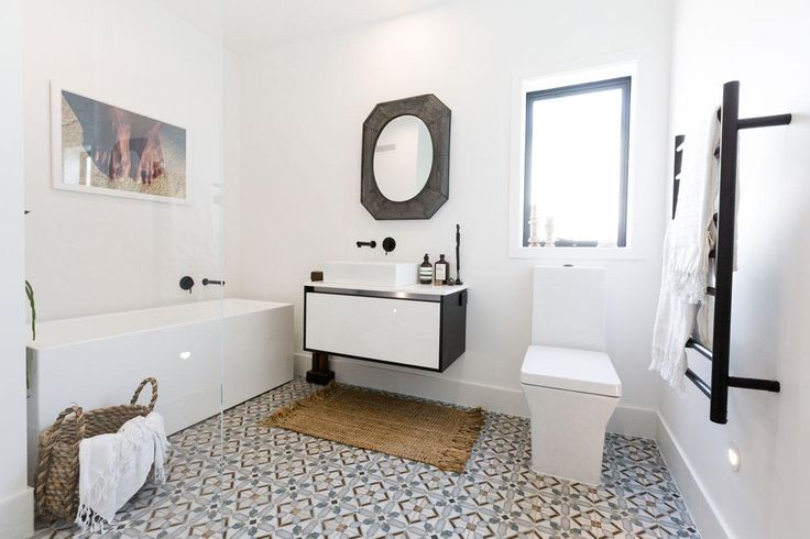 Get the Look: Niki & Tiff's winning Bathroom. Visit https://curate.co.nz/featured/as-seen-on-the-block-nz-2016 for links to the products as seen on The Block