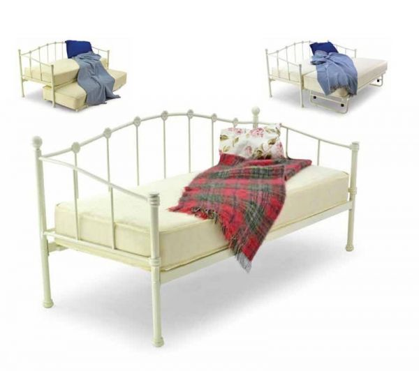 Metal Beds Paris 2FT 6 Small Single Day Bed (Optional Trundle Bed)