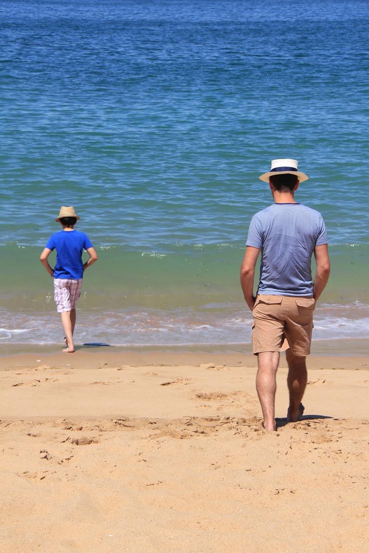 Father & son, Oléron, summer 2012