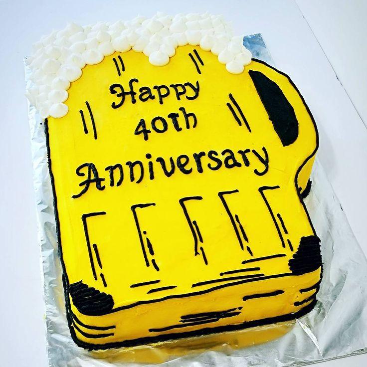 Anniversary beer cake