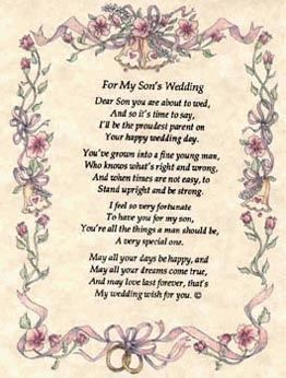 Free Mother Of Groom Poems