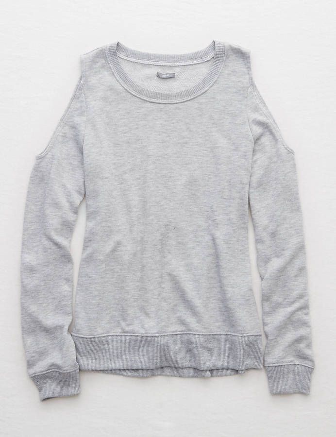 Aerie Cutout Shoulder Sweatshirt