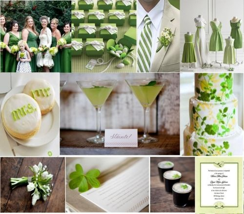 St. Patrick's Day wedding details