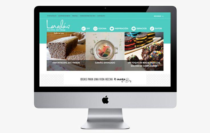 Diseño y desarrollo de Laralá. El primer blog DIY de Chile con más de 28.000 visitas al mes. // www.larala.cl