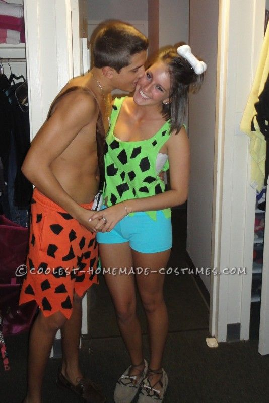 Cute and Sexy Pebbles and Bam Bam Couple Costume...