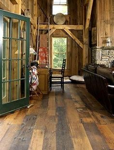 stamped concrete indoor flooring barn house - Google Search