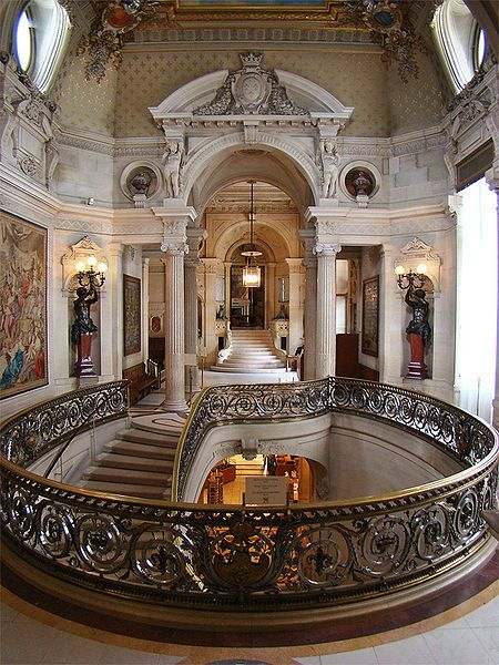 Grand Staircase, Chantilly Castle (just outside Paris), France