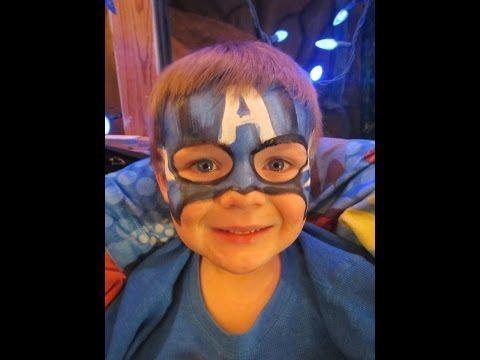 Captain America Facepainting!!!! - YouTube