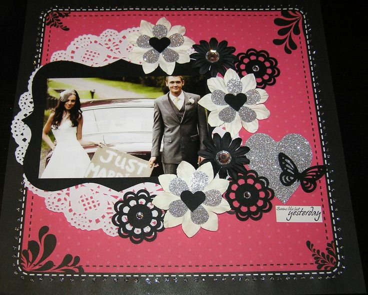"""SCRAPBOOK PAGE HANDMADE 12 X 12....""""SEEMS JUST LIKE YESTERDAY"""".reduced to $9.99"""