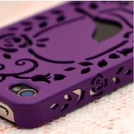 Capa para  iPhone 4/4S  - Roxo Pássaro