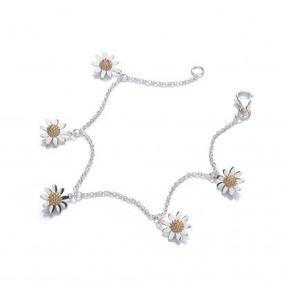 Ladies Daisy Jewellery range at Penman Clockcarehttp://www.watchandjewellery.co.uk/ladies-jewellery/daisy-necklace/charming-vintage-daisy-charm-bracelet-five-drop.html