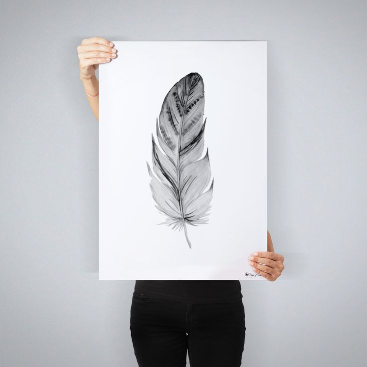 """""""Feather"""" // art print by People of Tomorrow"""