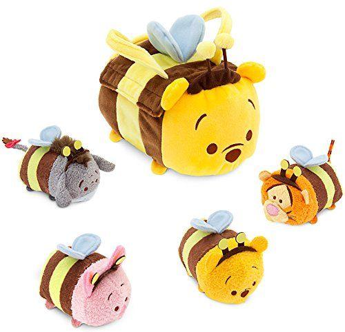 """Amazon.com: Disney Winnie the Pooh Winnie the Pooh ''Tsum Tsum'' Plush Set 8"""" & 3 3/4"""" Plush: Toys & Games"""