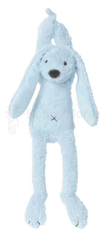 Spieluhr - Hase Richie - blau - Maße: 34 cm - Farbe: blau - Schonwäsche 30 °C - waschbar mit Spieluhr - Melodie: Over the Rainbow
