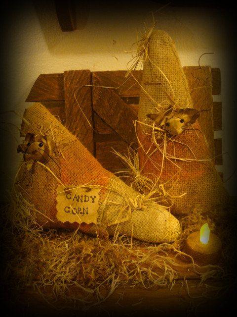 Primitive Candy Corn with Mice Shelf by ColdCreekPrimitives, $19.95