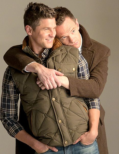 Literally what it's supposed to look like - David Burtka and Neil Patrick Harris pose for London Fog