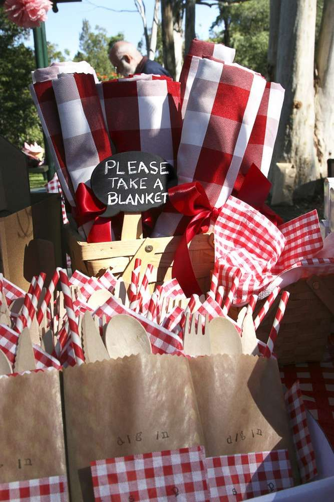 Picnic Red Amp White Gingham Birthday Party Ideas