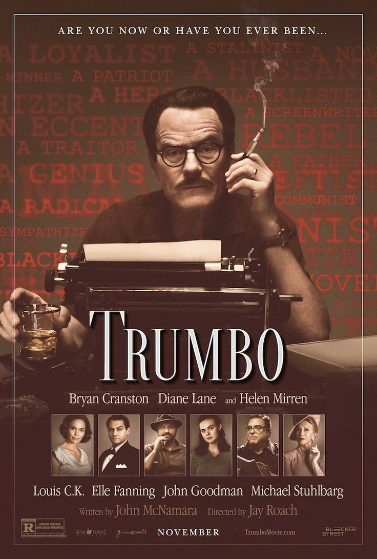 Bryan Cranston Plays Blacklisted Writer Dalton Trumbo in the Upcoming Biopic 'Trumbo'