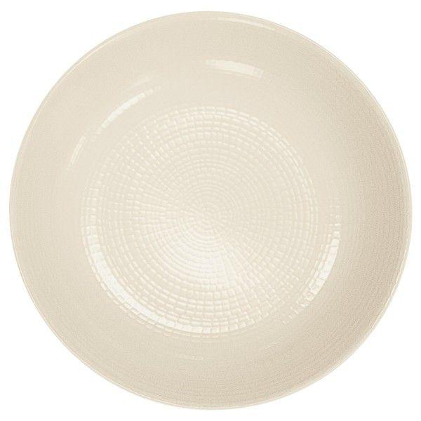 Boutique de vaisselle en porcelaine - ASSIETTE CREUSERONDE BLANCHE MODULO NATURE - Vaisselle - Guy Degrenne