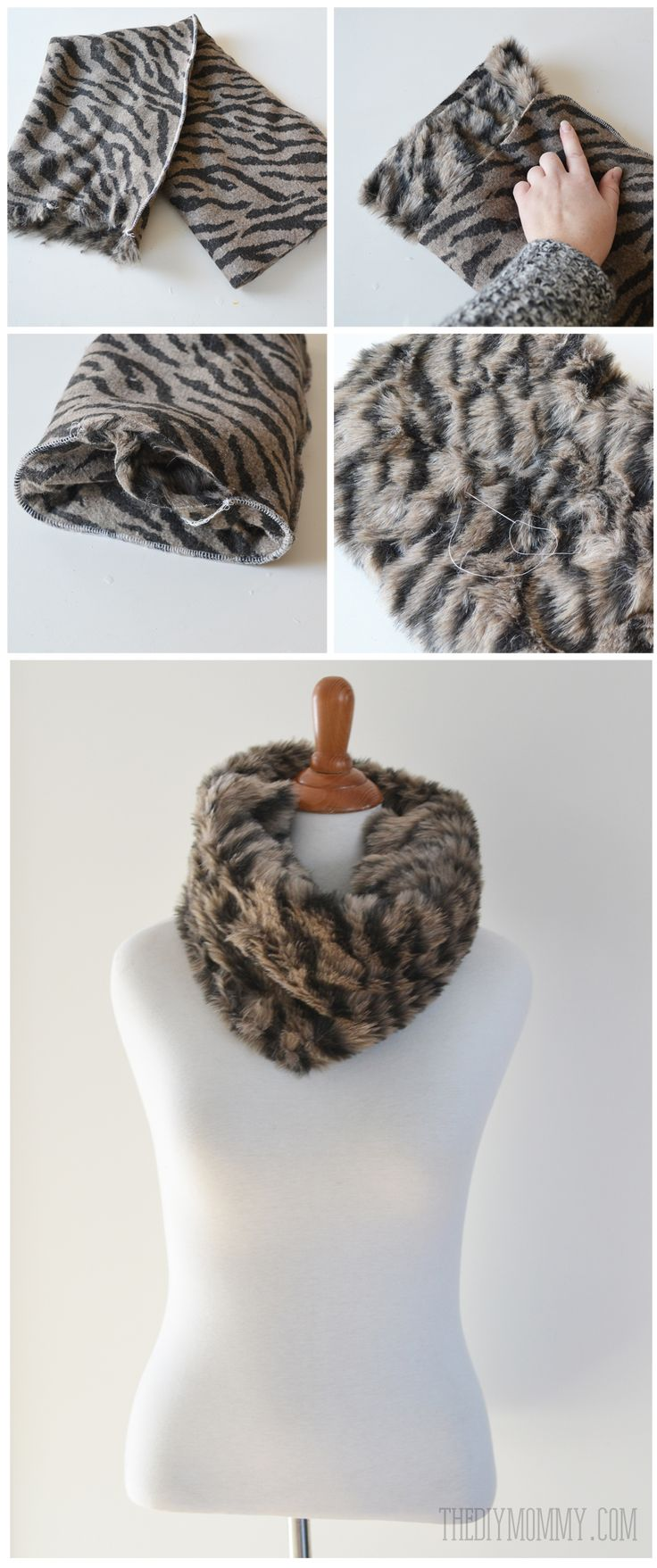 How to make a DIY faux fur cowl - so easy!